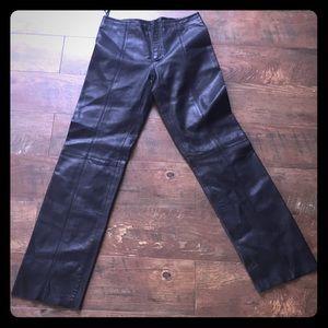 Pants - Vintage Women's Leather Pants. Small Sz. 8. Italy
